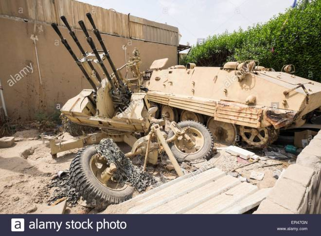 old-military-vehicles-on-display-outside-kuwait-house-of-national-ER47GN